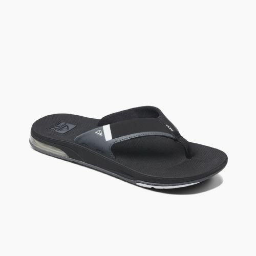 REEF MENS FLIP FLOPS.FANNING LOW BLACK ARCH SUPPORT THONGS SANDALS SHOES 9S 3 BL